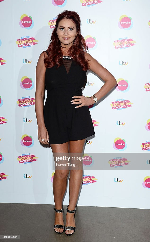 Amy Childs attends Lorraine's High Street Fashion Awards held at Vinopolis on May 21 2014 in London England