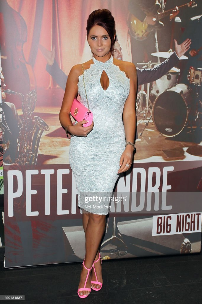 Amy Childs attends Peter Andre's Album launch at Stamford Bridge on May 14 2014 in London England