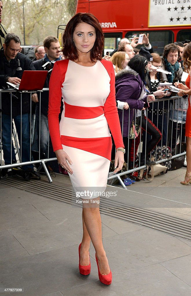 Amy Childs attends the 2014 TRIC Awards at The Grosvenor House Hotel on March 11 2014 in London England