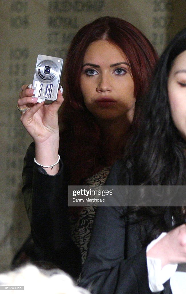 Amy Childs attends the Apu Jan show during London Fashion Week Fall/Winter 2013/14 at Freemasons Hall on February 15, 2013 in London, England.