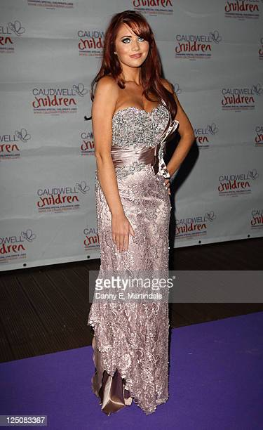 Amy Childs attends The Caudwell Children Butterfly Ball at Battersea Evolution on September 15 2011 in London England