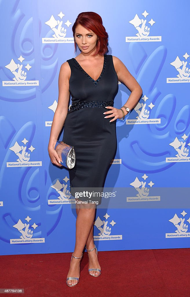 Amy Childs attends the National Lottery Awards at The London Television Centre on September 11 2015 in London England