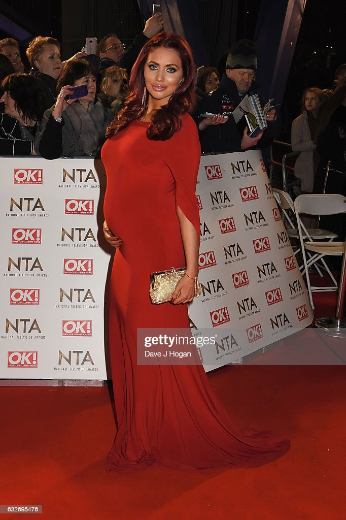 Amy Childs attends the National Television Awards at Cineworld 02 Arena on January 25, 2017 in London, England.