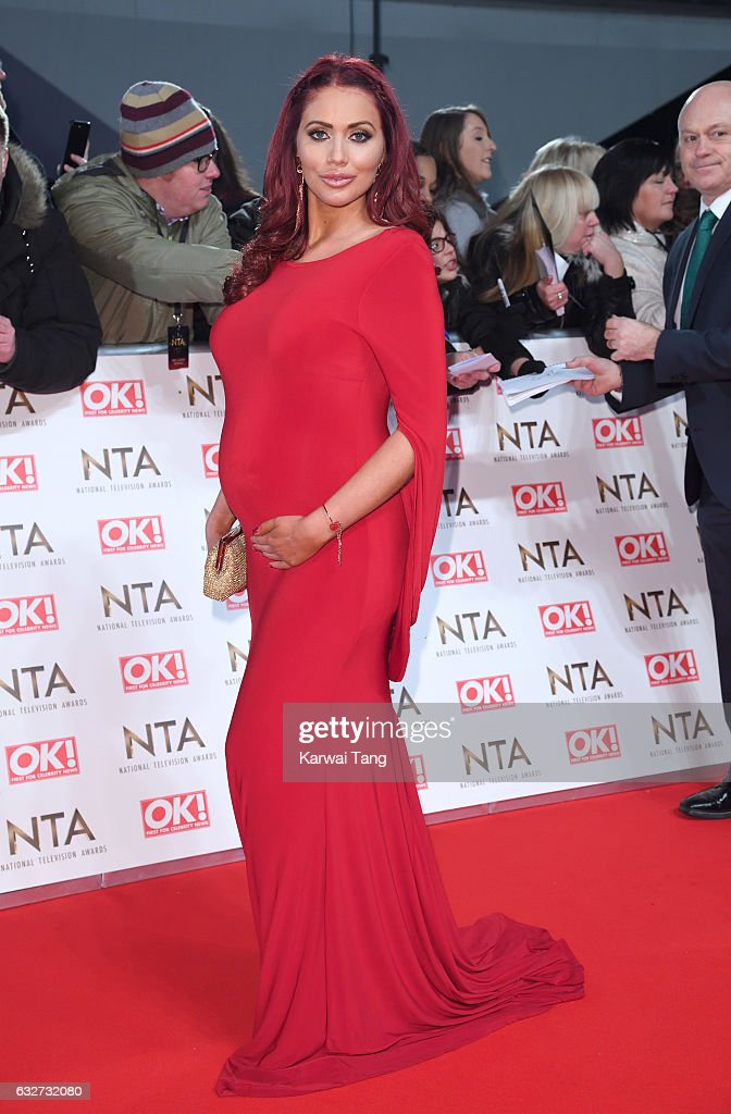 Amy Childs attends the National Television Awards at The O2 Arena on January 25, 2017 in London, England.