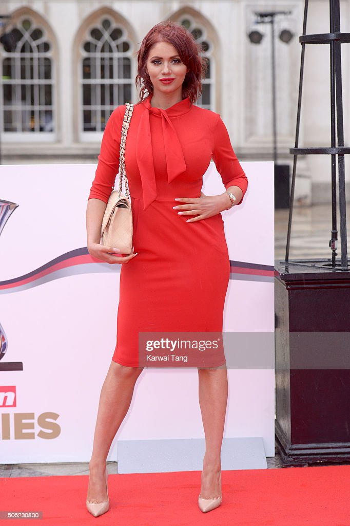 Amy Childs attends the Sun Military Awards at The Guildhall on January 22, 2016 in London, England.