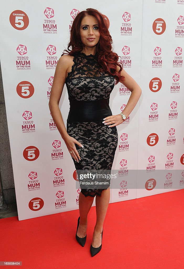 Amy Childs attends the Tesco Mum of the Year awards at The Savoy Hotel on March 3, 2013 in London, England.