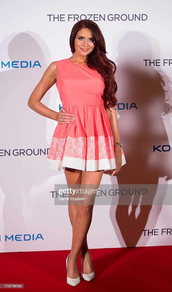 <a gi-track='captionPersonalityLinkClicked' href=/galleries/search?phrase=Amy+Childs&family=editorial&specificpeople=7306054 ng-click='$event.stopPropagation()'>Amy Childs</a> attends the UK Premiere of 'The Frozen Ground' at the Vue West End Leicester Square on July 17, 2013 in London, England.