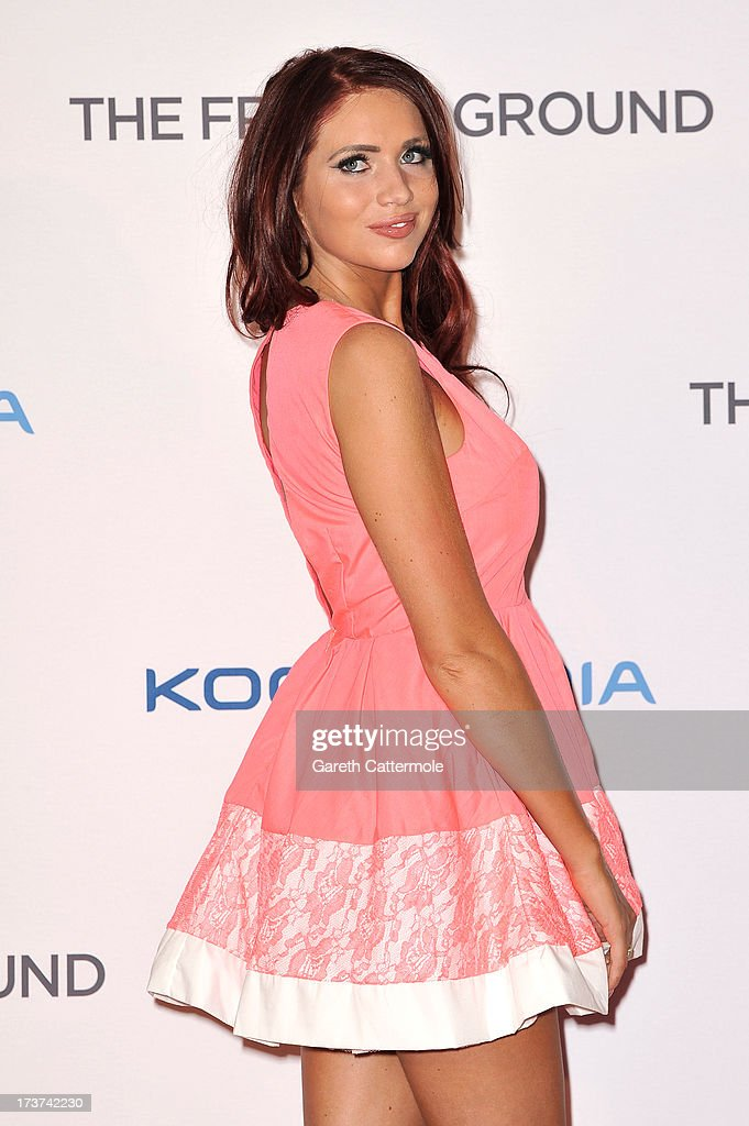 Amy Childs attends the UK Premiere of 'The Frozen Ground' at Vue West End on July 17, 2013 in London, England.
