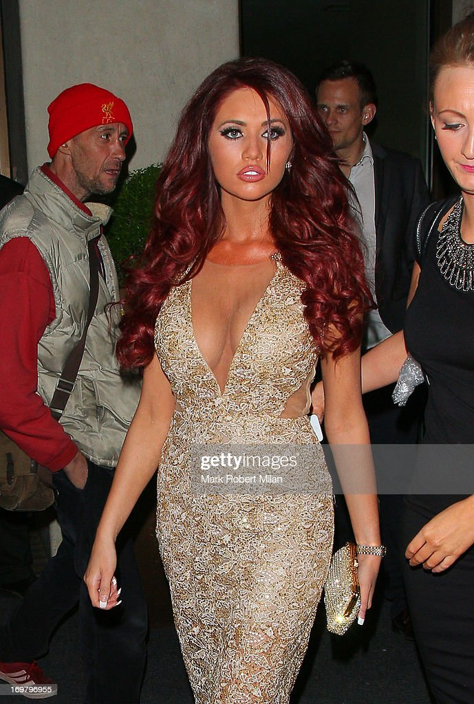 <a gi-track='captionPersonalityLinkClicked' href=/galleries/search?phrase=Amy+Childs&family=editorial&specificpeople=7306054 ng-click='$event.stopPropagation()'>Amy Childs</a> leaving the May Fair hotel on June 1, 2013 in London, England.