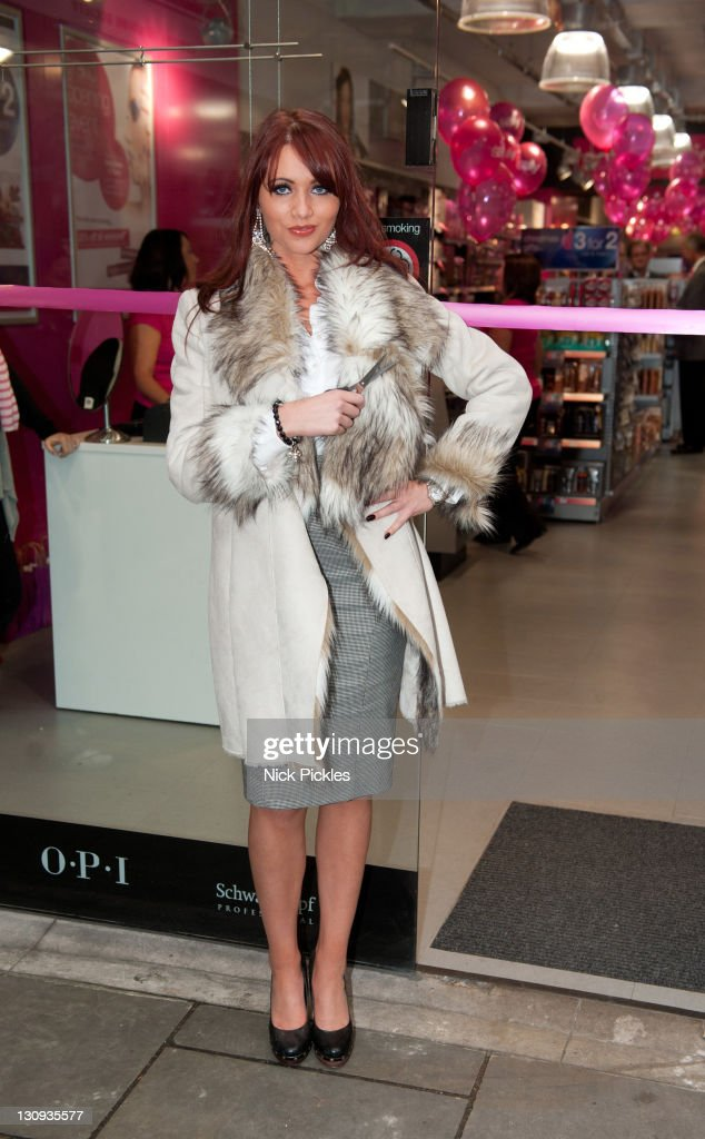 Amy Childs opens beauty shop 'Sally' at the sally store on November 20 2010 in London England