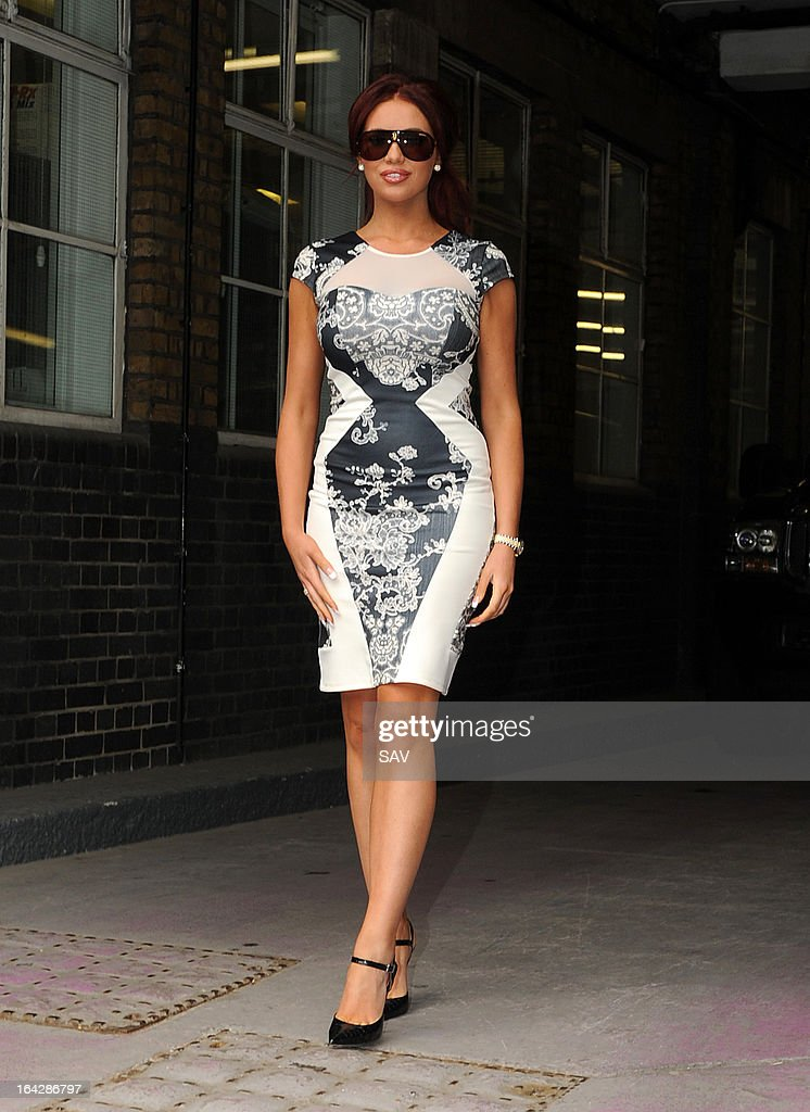 Amy Childs pictured at the ITV studios on March 22, 2013 in London, England.