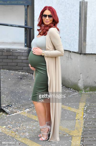 Amy Childs seen at the ITV Studios after appearing on the Loose Women show on March 30 2017 in London England