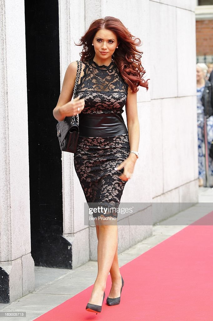 Amy Childs sighted arriving at The Savoy Hotel on March 3, 2013 in London, England.