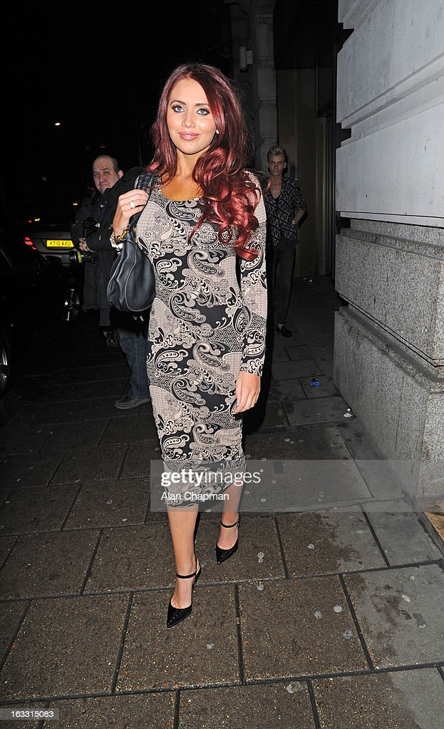 Amy Childs sighting in Mayfair on March 7, 2013 in London, England.