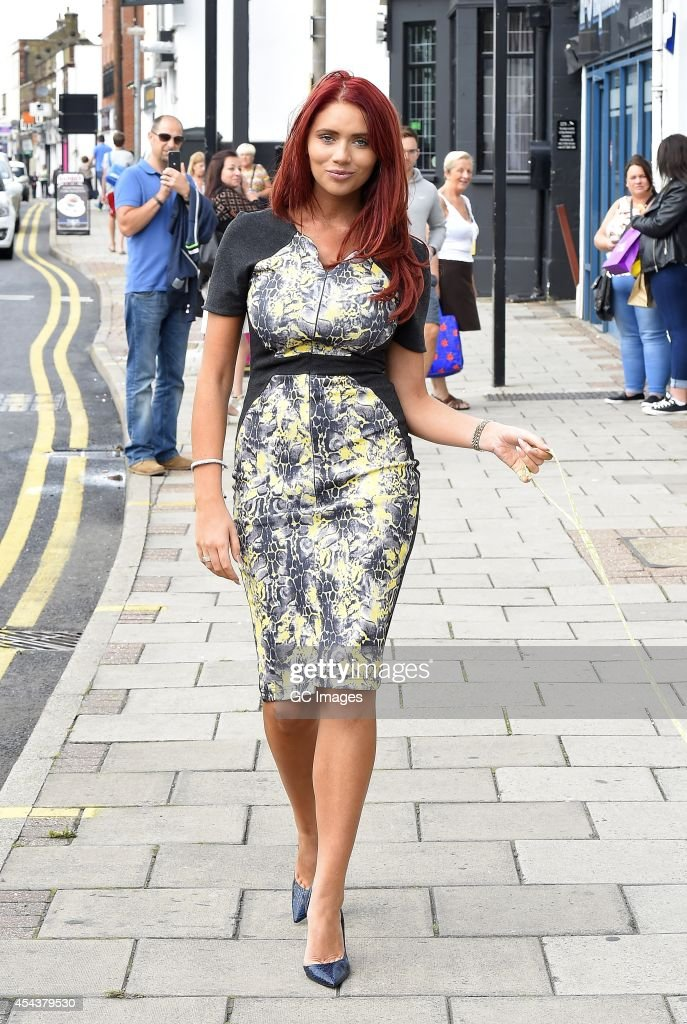 Amy Childs walks her dog in Brentwood on August 30 2014 in London England