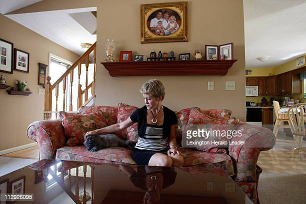 Amy Clay wife of Comair pilot Jeff Clay talks about her husband in Burlington Kentucky Thursday August 16 2007 Jeff the pilot of Flight 5191 was one...