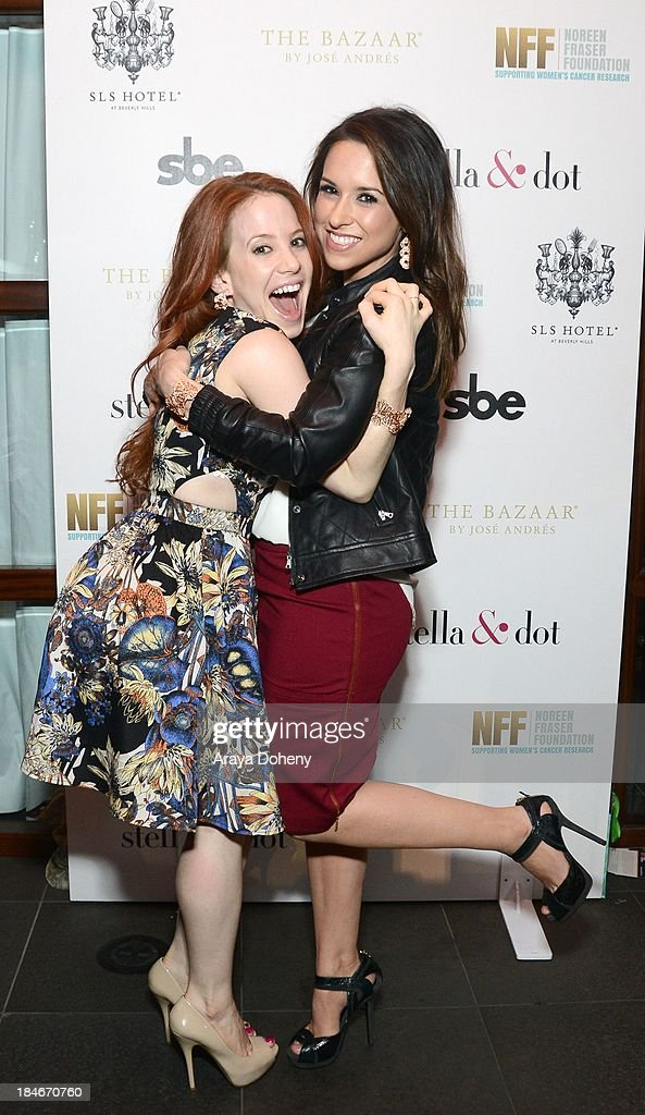 Amy Davidson and Lacey Chabert attend the Stella & Dot Trunk Show Benefiting The Noreen Fraser Foundation at The Bazaar at the SLS Hotel Beverly Hills on October 14, 2013 in Los Angeles, California.