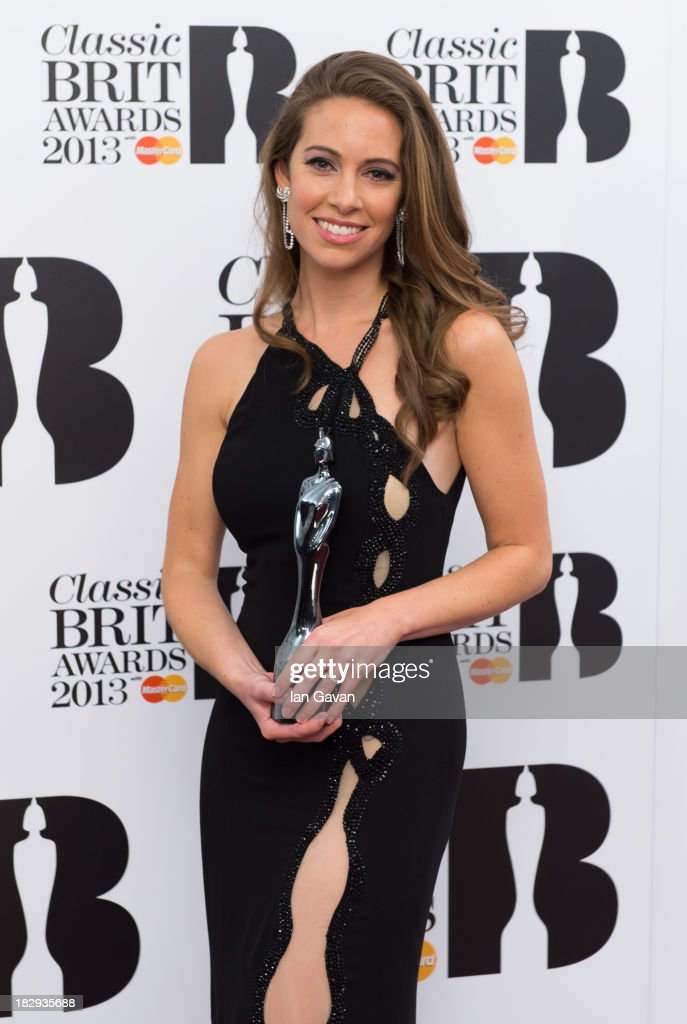 Amy Dickson, Winner of Mastercard Breakthrough Artist of the Year Award poses in the winners room at the Classic BRIT Awards 2013 at Royal Albert Hall on October 2, 2013 in London, England.