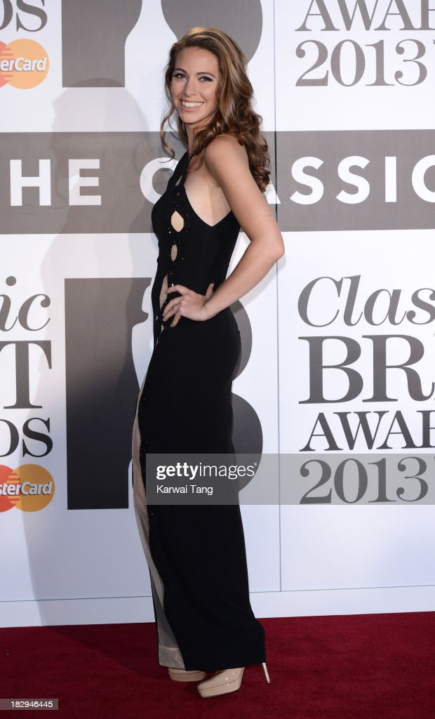 Amy Dixon attends the Classic BRIT Awards 2013 at Royal Albert Hall on October 2, 2013 in London, England.