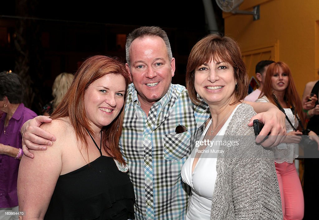 Amy Dodds, Patrick O'Keefe, and Kathy Cullin attend the Tequila Tasting during the Bash To Banish Bullying Benefiting It Gets Better, a Matrix Chairs Of Change Event - Day 1 at Saguaro Hotel on March 16, 2013 in Palm Springs, California.