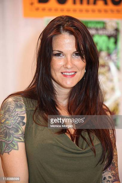 Amy Dumas attends day one of the 21st Anniversary Motor City Comic Con at Rock Financial Showplace on May 14 2010 in Novi Michigan