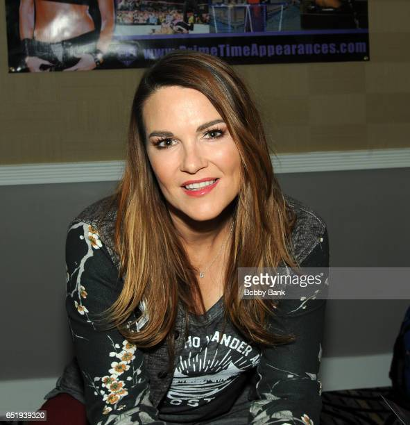 Amy Dumas attends the 2017 Monster Mania Con at NJ Crowne Plaza Hotel on March 10 2017 in Cherry Hill New Jersey