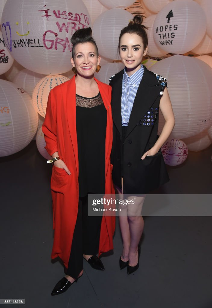 Amy Emmerich (L) and Lily Collins attends Refinery29 29Rooms Los Angeles: Turn It Into Art Opening Night Party at ROW DTLA on December 6, 2017 in Los Angeles, California.