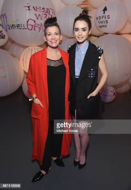 Amy Emmerich and Lily Collins attends Refinery29 29Rooms Los Angeles Turn It Into Art Opening Night Party at ROW DTLA on December 6 2017 in Los...