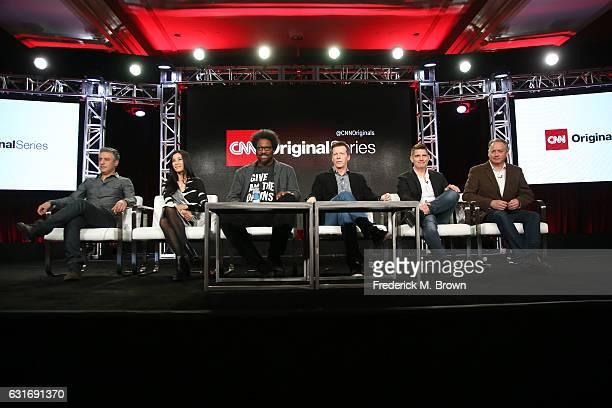 Amy Entelis EVP of Talent Content Development at CNN Worldwide show hosts Reza Aslan Lisa Ling W Kamau Bell Sean Hayes executive producers Todd...