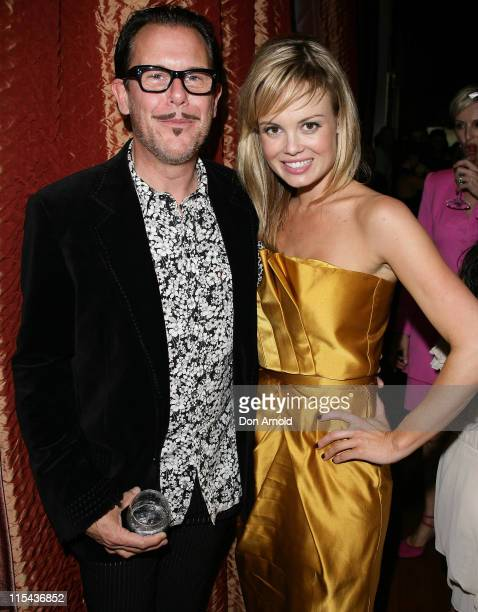 Amy Erbacher and Kirk Pengilly attends the Kate Waterhouse Melbourne Cup Party at the Zeta Bar at The Hilton Hotel on November 6 2007 in Sydney...