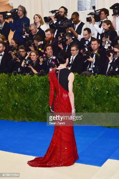 Amy Fine Collins arrives at 'Rei Kawakubo/Comme des Garcons Art Of The InBetween' Costume Institute Gala at The Metropolitan Museum on May 1 2017 in...