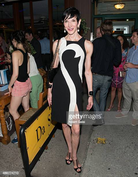 Amy Fine Collins attends Marisa Acocella Marchetto's 'Ann Tenna' book launch party at Da Silvano on September 1 2015 in New York City