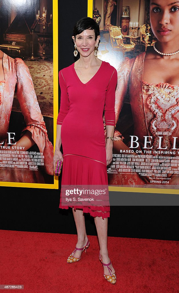 Amy Fine Collins attends the 'Belle' premiere at The Paris Theatre on April 28, 2014 in New York City.