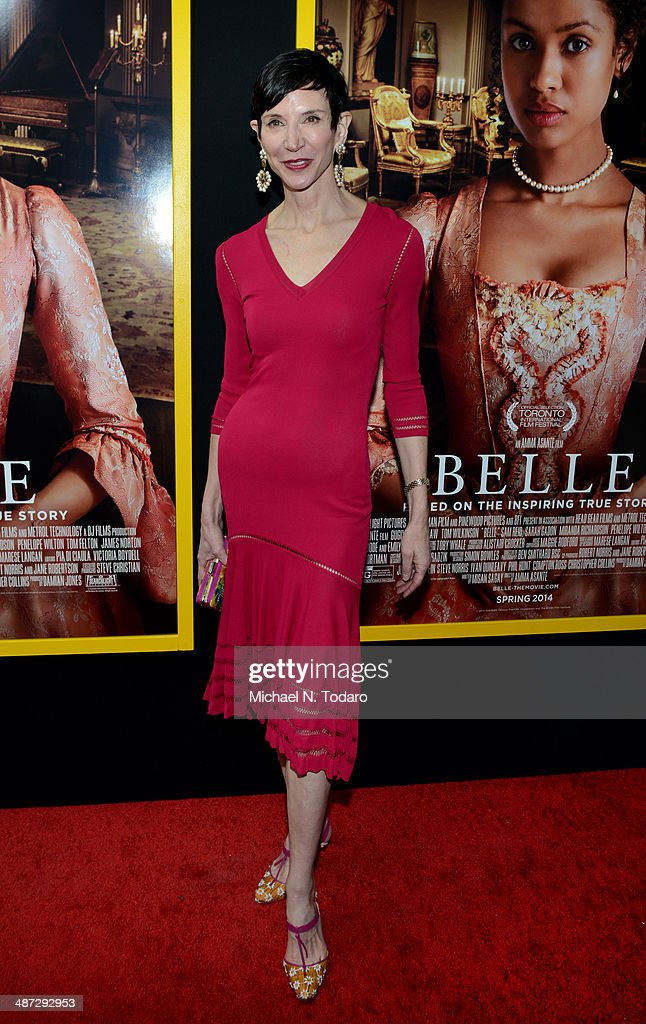 <a gi-track='captionPersonalityLinkClicked' href=/galleries/search?phrase=Amy+Fine+Collins&family=editorial&specificpeople=241319 ng-click='$event.stopPropagation()'>Amy Fine Collins</a> attends the 'Belle' premiere at The Paris Theatre on April 28, 2014 in New York City.