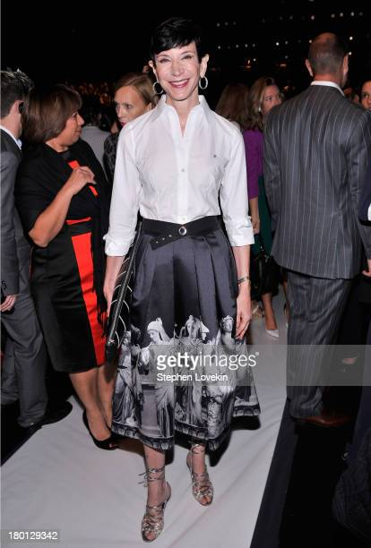 Amy Fine Collins attends the Carolina Herrera fashion show during MercedesBenz Fashion Week Spring 2014 at The Theatre at Lincoln Center on September...