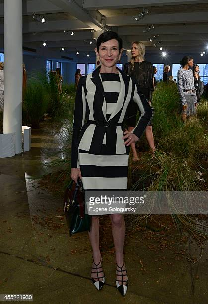 Amy Fine Collins attends the Hanley Mellon Spring 2015 Collection at Hudson Mercantile on September 10 2014 in New York City