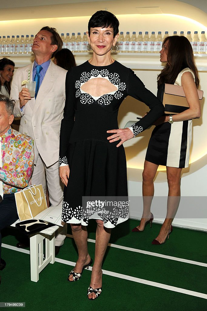 <a gi-track='captionPersonalityLinkClicked' href=/galleries/search?phrase=Amy+Fine+Collins&family=editorial&specificpeople=241319 ng-click='$event.stopPropagation()'>Amy Fine Collins</a> attends the Lisa Perry presentation during Mercedes-Benz Fashion Week Spring 2014 on September 4, 2013 in New York City.