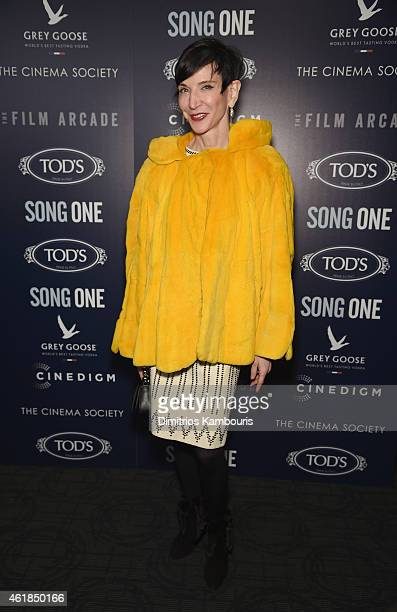 Amy Fine Collins attends the premiere of the Film Arcade Cinedigm's 'Song One' hosted by the Cinema Society Tod's at Landmark's Sunshine Cinema on...