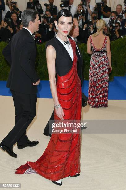 Amy Fine Collins attends the 'Rei Kawakubo/Comme des Garcons Art Of The InBetween' Costume Institute Gala at Metropolitan Museum of Art on May 1 2017...
