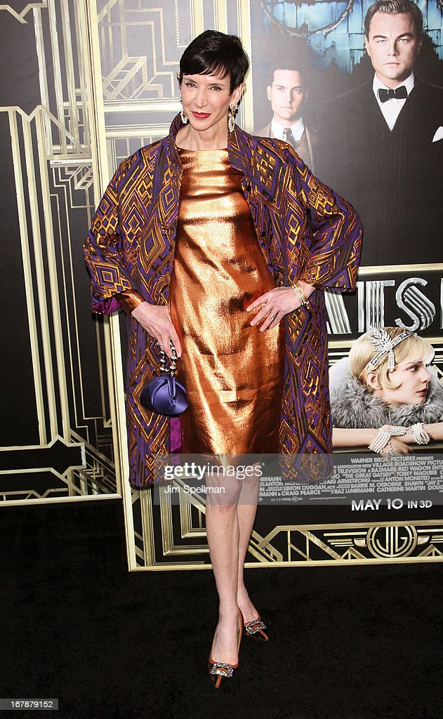 Amy Fine Collins attends the 'The Great Gatsby' world premiere at Avery Fisher Hall at Lincoln Center for the Performing Arts on May 1, 2013 in New York City.