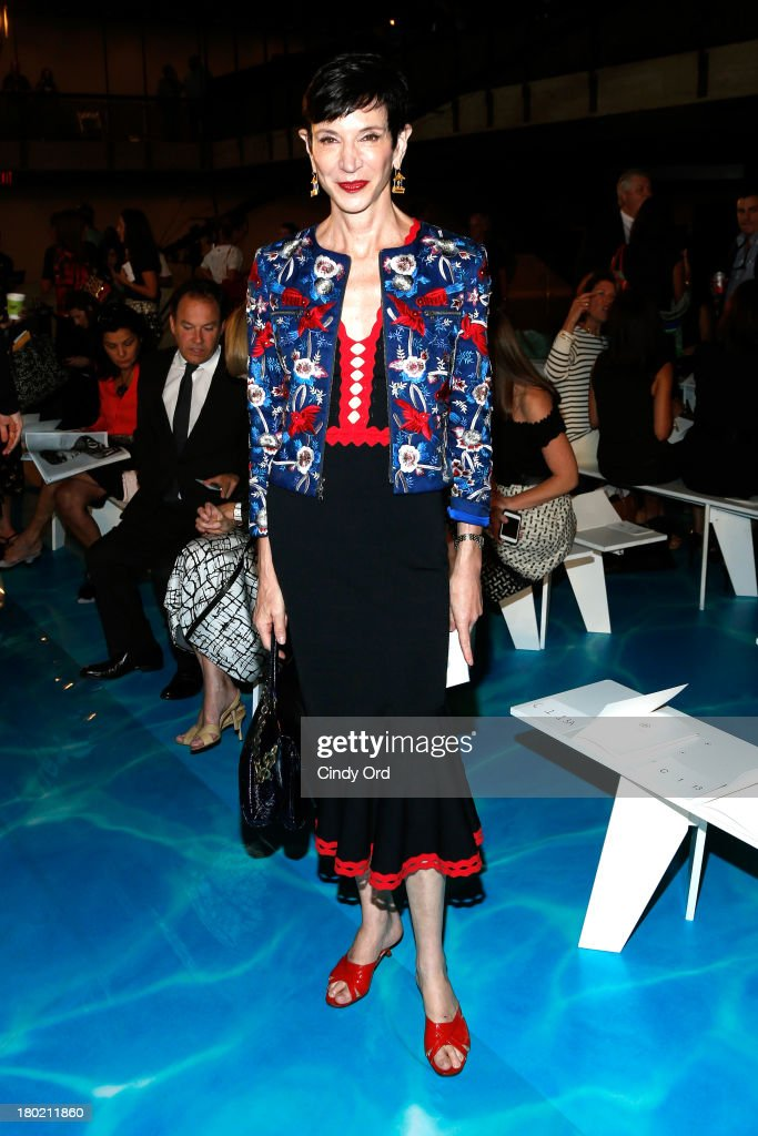 <a gi-track='captionPersonalityLinkClicked' href=/galleries/search?phrase=Amy+Fine+Collins&family=editorial&specificpeople=241319 ng-click='$event.stopPropagation()'>Amy Fine Collins</a> attends the Tory Burch fashion show during Mercedes-Benz Fashion Week Spring at David H. Koch Theater at Lincoln Center on September 10, 2013 in New York City.