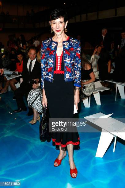 Amy Fine Collins attends the Tory Burch fashion show during MercedesBenz Fashion Week Spring at David H Koch Theater at Lincoln Center on September...