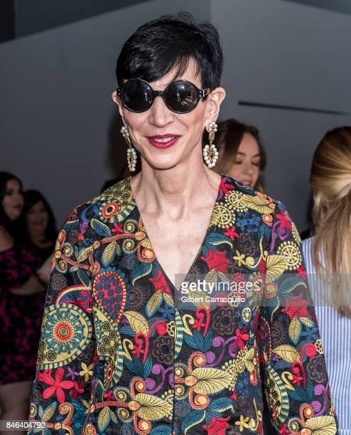 Amy Fine Collins is seen arriving at Alice Olivia By Stacey Bendet fashion show during September 2017 New York Fashion Week The Shows at Gallery 2...