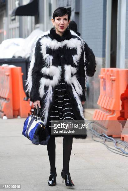 Amy Fine Collins is seen outside the Altuzarra show on February 8 2014 in New York City