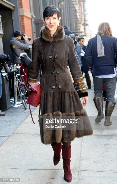 Amy Fine Collins is seen outside the Jason Wu show on February 7 2014 in New York City