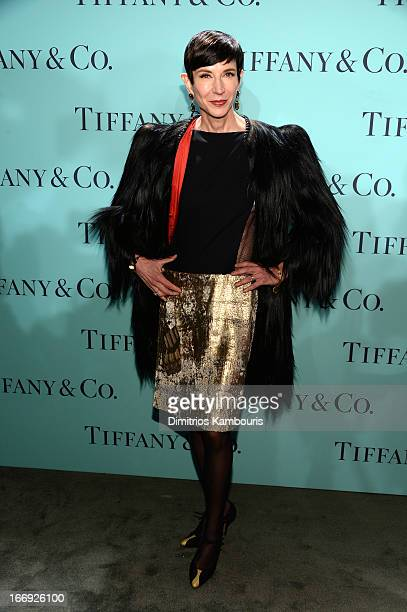 Amy Fine Collins of Vanity Fair attends the Tiffany Co Blue Book Ball at Rockefeller Center on April 18 2013 in New York City for Tiffany Co