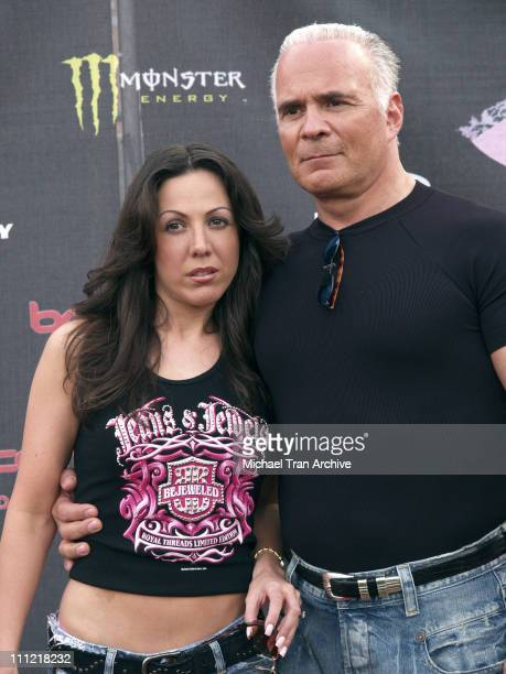 Amy Fisher and husband during Bodogcom Presents the 2006 Lingerie Bowl at Los Angels Memorial Coliseum in Los Angeles California United States