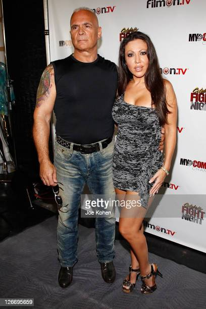 Amy Fisher and husband Lou Ballera attend Celebrity Fight Night Official Press Conference on September 26 2011 in Beverly Hills California