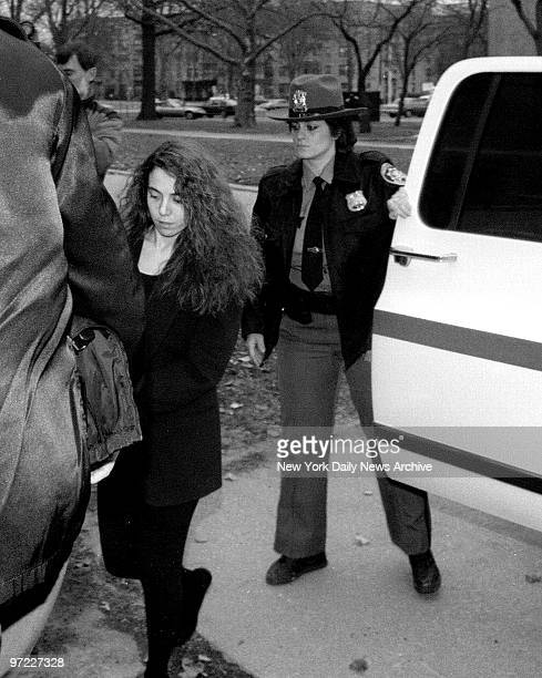 Amy Fisher arrives at Nassau County Courthouse for sentencing