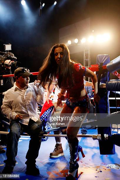 Amy Fisher attends 'Celebrity Fight Night' At The Avalon on November 5 2011 in Hollywood California